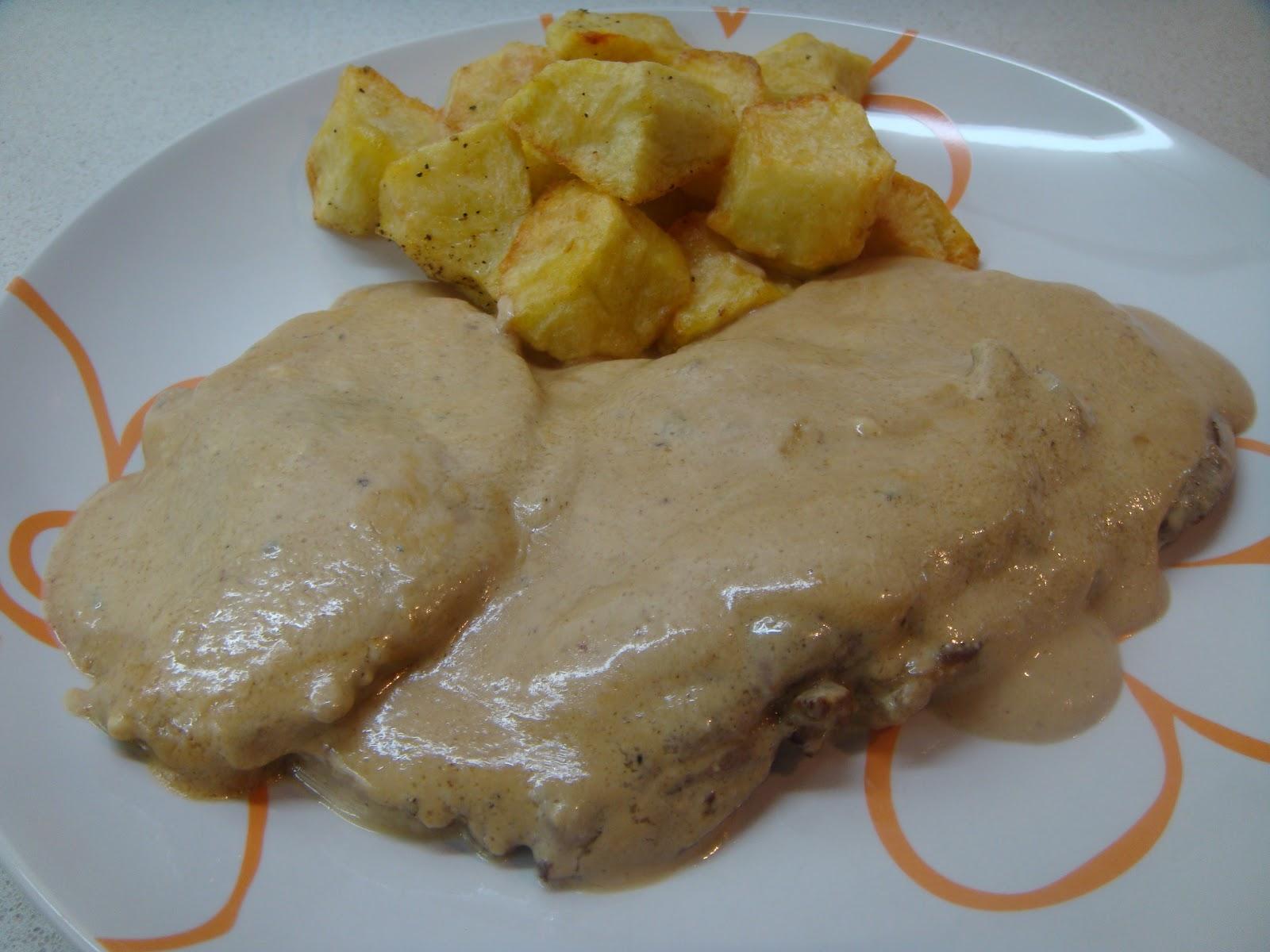 Ternera en salsa de queso azul for Cocinar filetes de ternera