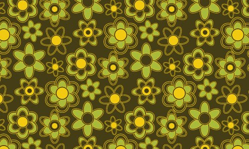 Cute floral green pattern