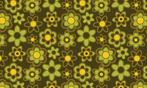 Cute floral green pattern