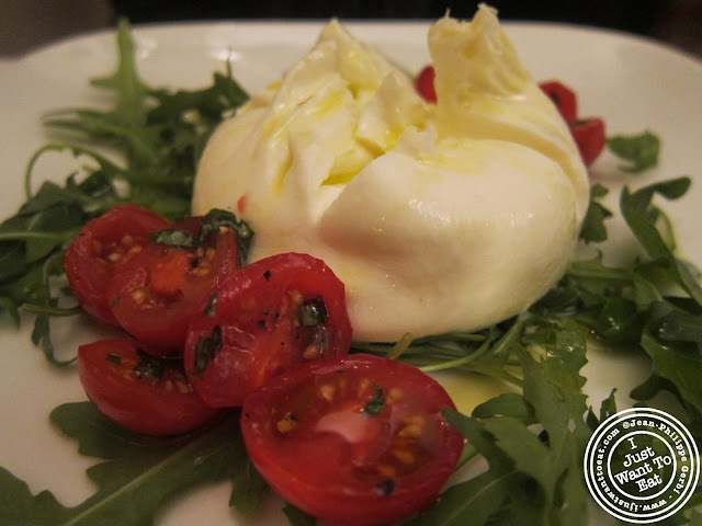 image of Burrata at Vasco and Piero's Pavilion Italian restaurant in London, England