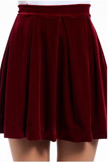 Velveteen Skater Skirt Velvet