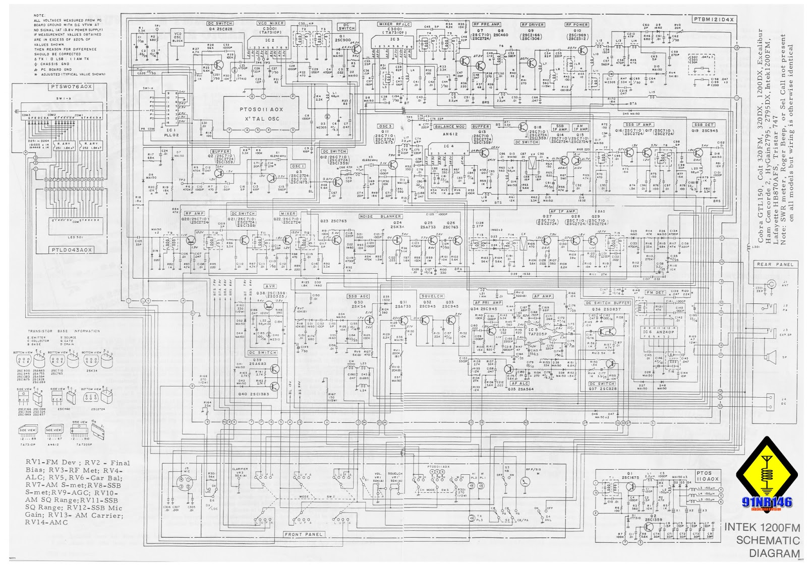 91nr146 Station January 2013 27mhz Cb Receiver Circuit Radio Scheme Collections