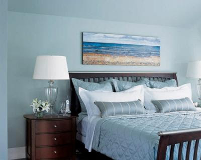 Beach decorated bedrooms bedroom for Blue beach bedroom ideas