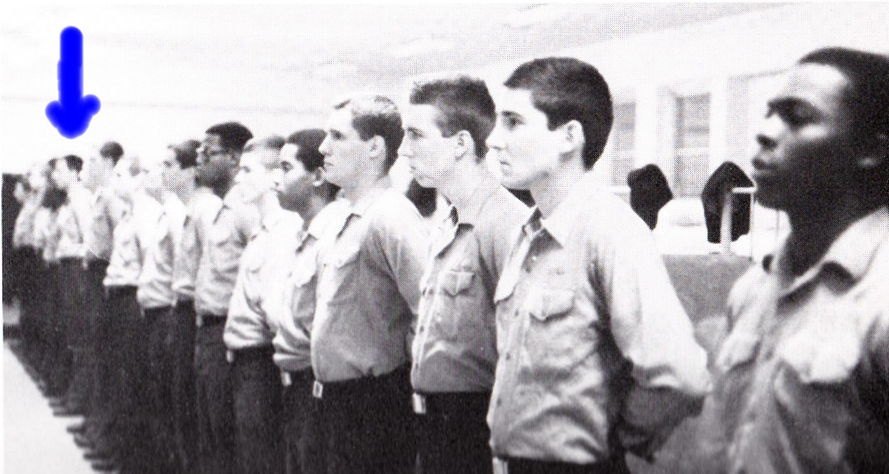 Tommy Mondello lined up boot camp 1981 Orlando, FLA