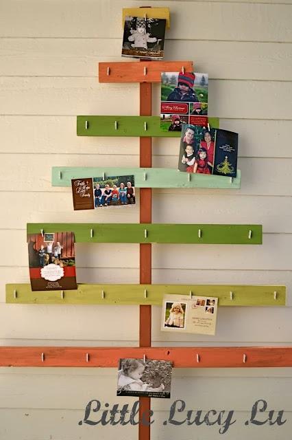 DIY Christmas Tree Craft Ideas Card Hanging