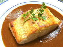 Salmon with Mole Amarillo
