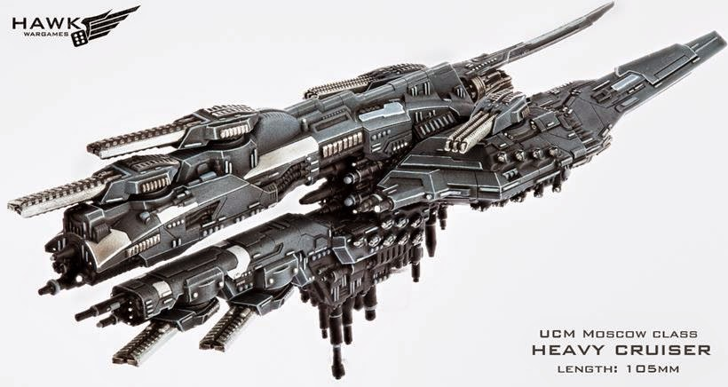 Hawk Wargames Dropfleet Moscow Heavy Cruiser