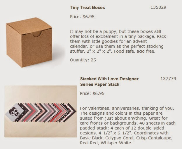 Stampin'UP!'s Tiny Treat Box and Stacked with Love DSP