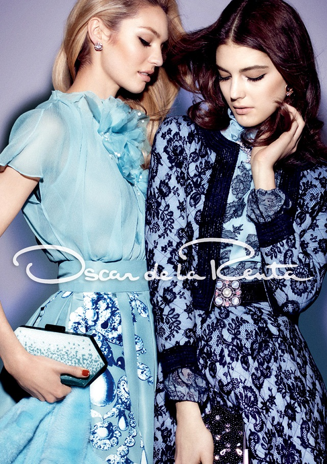 Oscar de la Renta Fall/Winter 2012/13 featuring Candice Swanepoel and Katryn Kruger