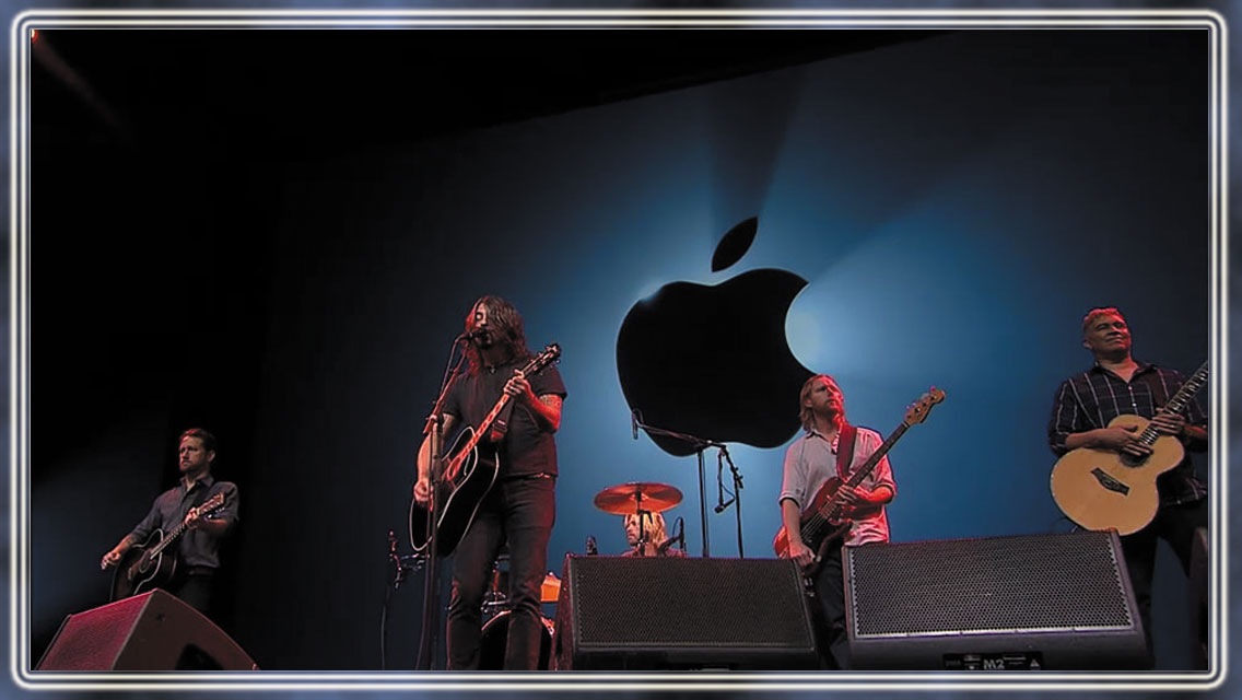 Foo Fighters At Apple IPhone 5 Introductions