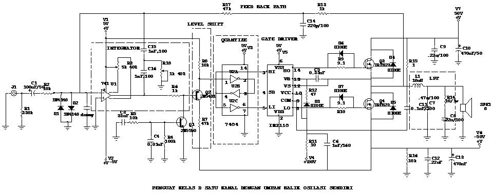 Rancangan amplifier kelas d gatewan skematik amplifier kelas d ccuart Choice Image