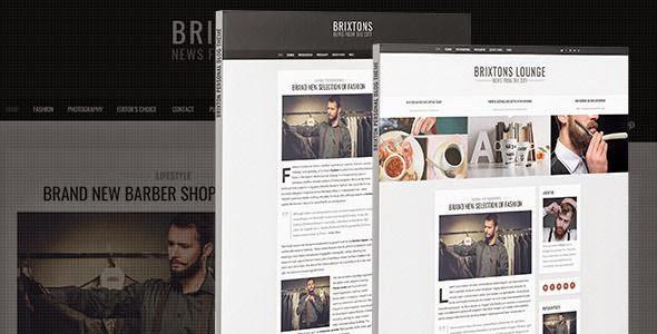 Brixton - Minimal & Personal PSD Blog Template