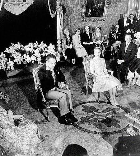 Граждански брак на Грейс Кели и княза на Монако Рение III