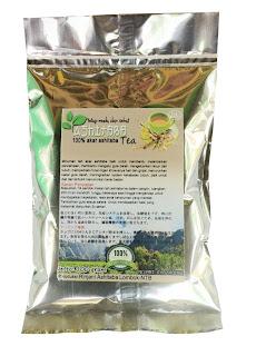 teh bubuk akar ashitaba terbuat dari 100 akar ashitaba organik pilihan