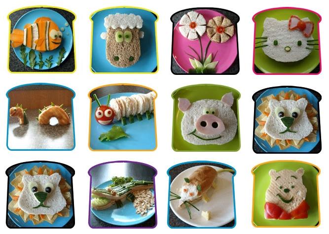 Recettes enfants repas rigolos pour enfants - Idee de sandwich froid ...