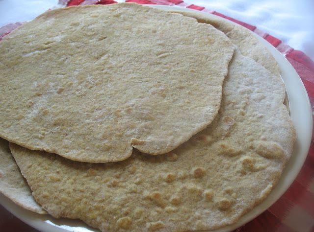 Quick and Easy Spelt Tortillas