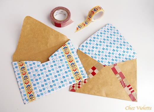 DIY envelopes - Enveloppes faites main Chez Violette