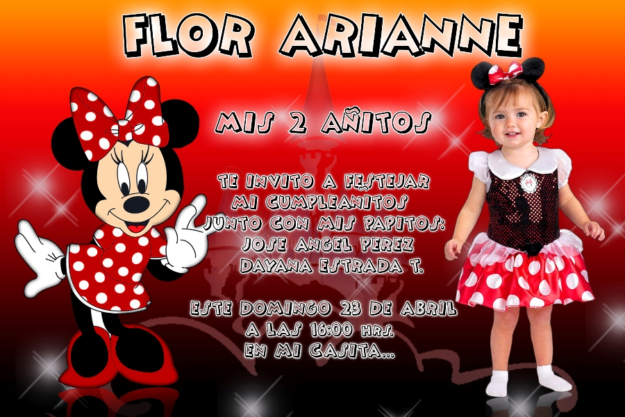 Mickey Mouse INVITACION PSD - FASILINGO