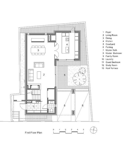 desain denah rumah lantai 1