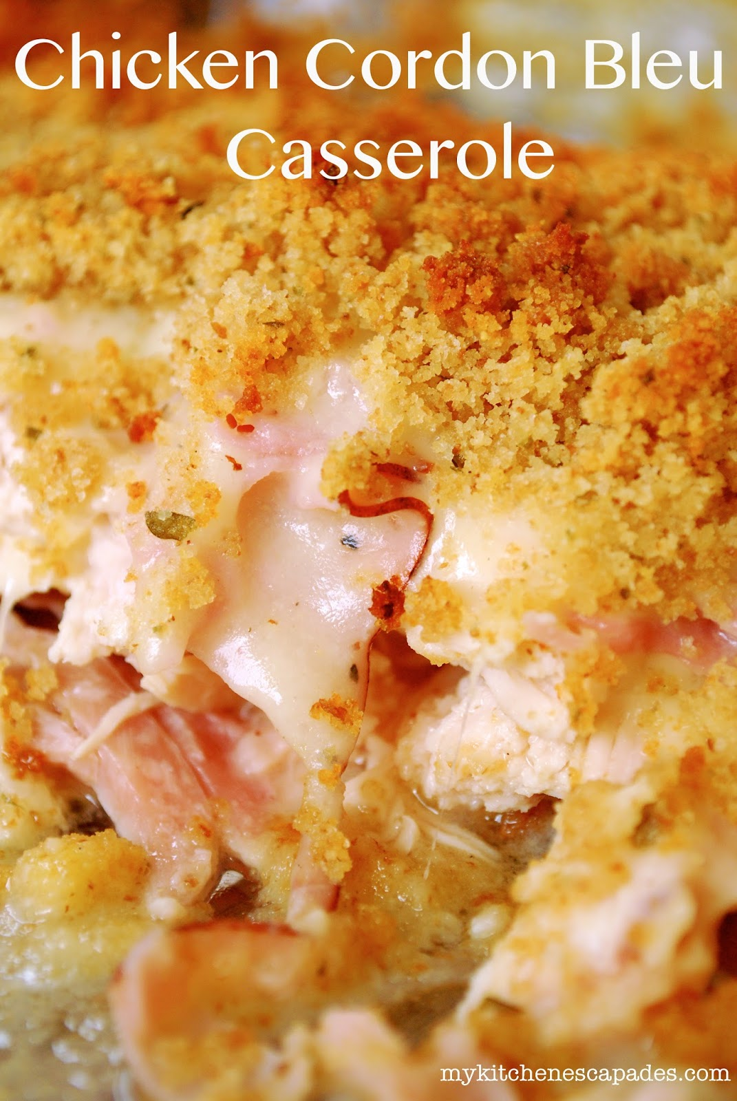 Chicken Cordon Bleu Casserole - TGIF - This Grandma is Fun