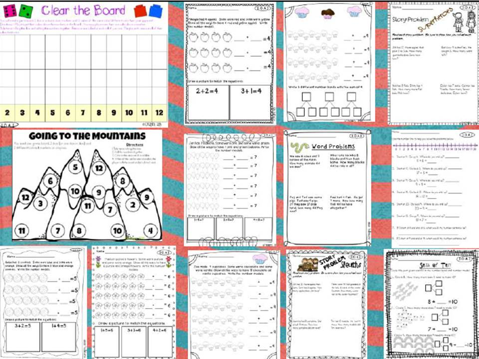 My Creations I Love 1st Grade – Common Core Math Worksheets for First Grade