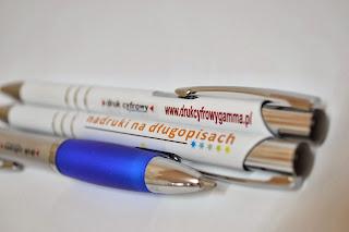 nadruk na długopisach