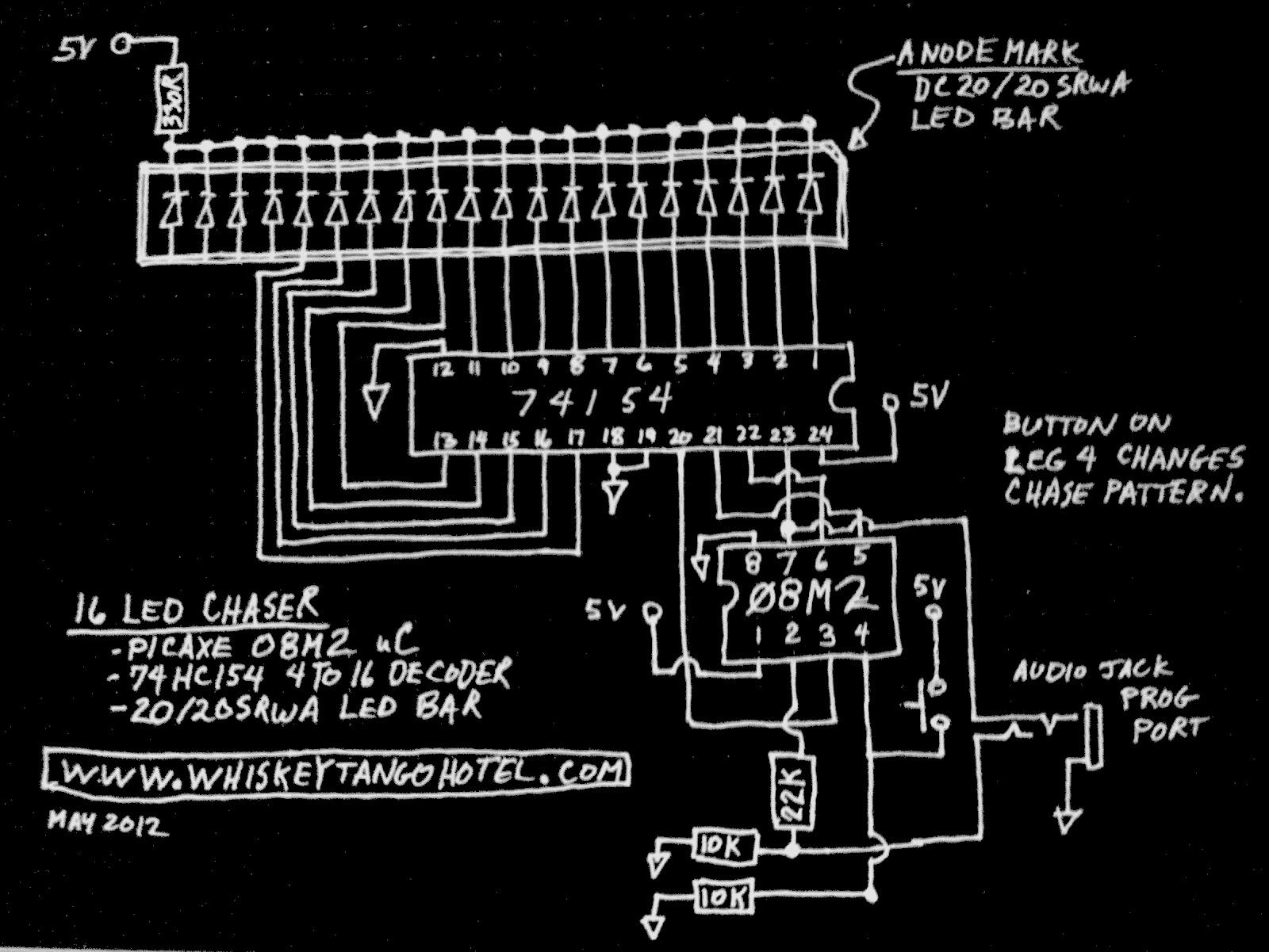 Circuit Diagram Knight Rider Lights Composed Of Lm324 Basiccircuit Seekiccom Whiskeytangohotelcom Progression A Picaxe Led Chaser