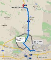 Луганск карта