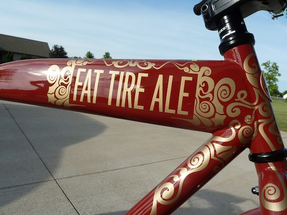 Side view image of the bike frame with detailing of the Fat Tire 2011 Anniversary bicycle by Felt Bicycle Company