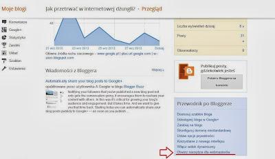 Narzędzia dla webmasterów w bloggerze