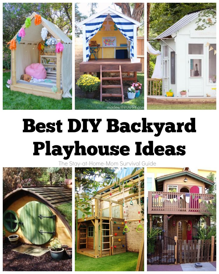 Best diy backyard playhouse ideas the stay at home mom How to build outdoor playhouse