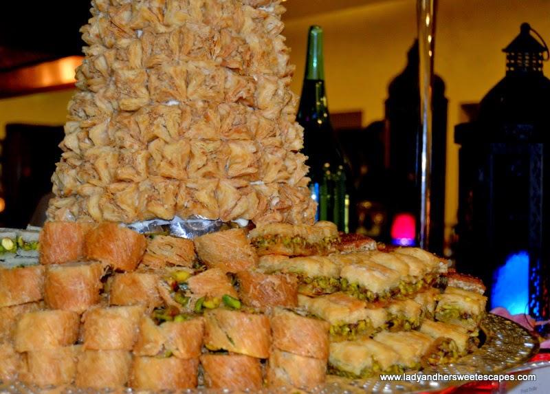 baklava platter at Metro! Millennium Plaza Hotel Dubai
