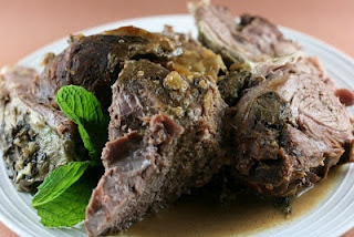 Slow Cooker Mint-Glazed Lamb