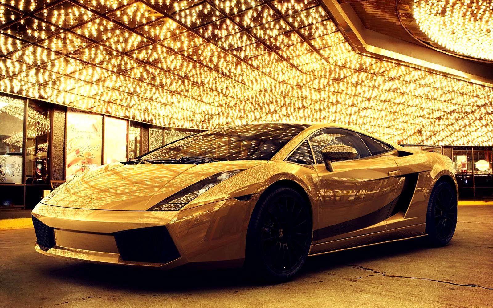 Golden Lamborghini Gallardo HD Wallpaper
