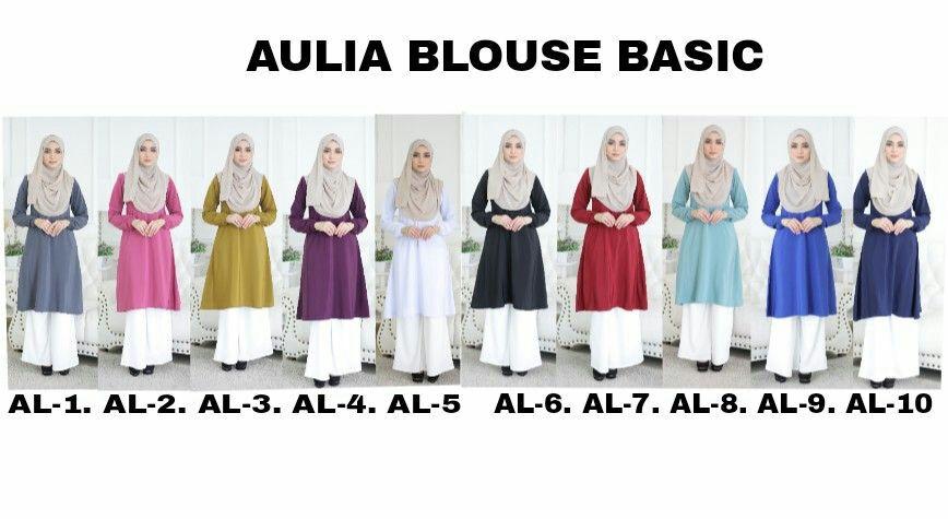 Pelbagai pilihan blouse muslimah semuanya labuh dan menawan