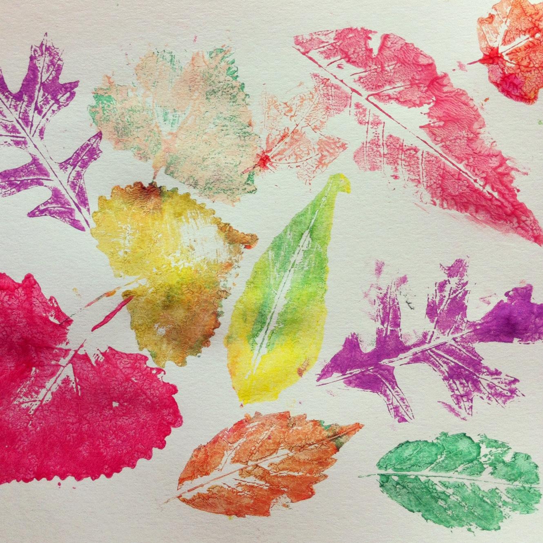 easy fall leaf prints gettin 39 crafty with natalie
