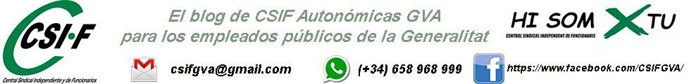 CSIF Autonómicas GVA