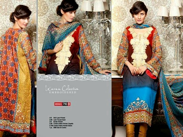 Embroidered Lawn Prints for Womens