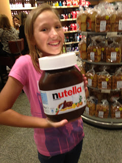 The Crane Girls: 5kg tubs of Nutella