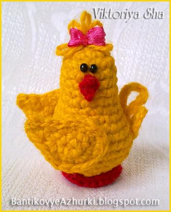 вязанный-цыпленок-на-Пасху