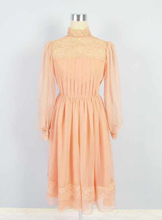 Vintage 1970's Victorian Babydoll Dress