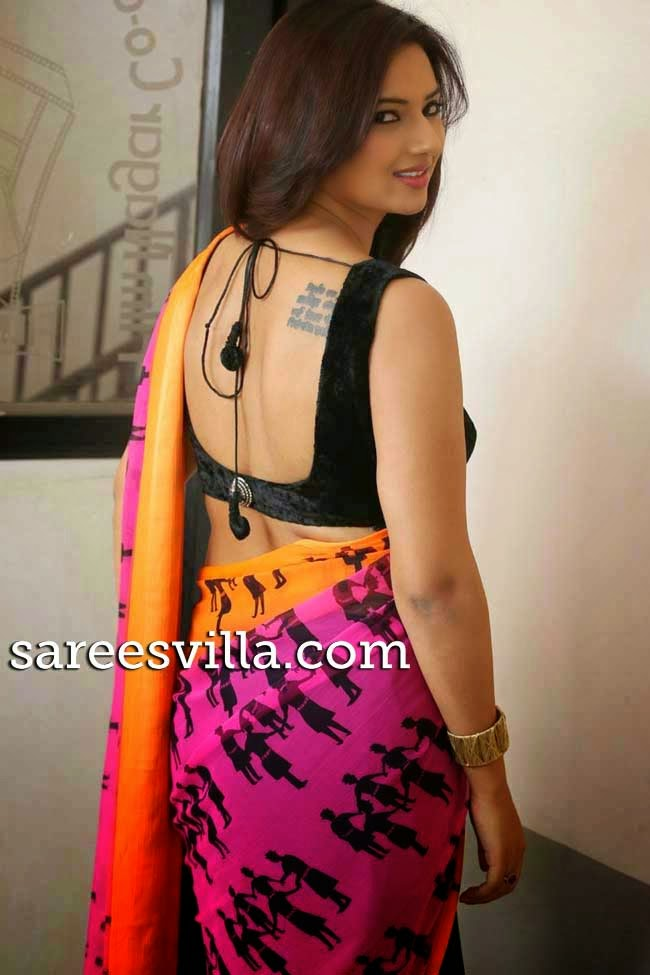 Iisha Chaawla In Backless Blouse