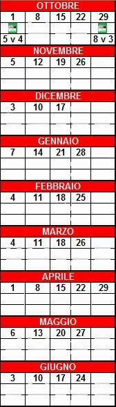 Il Calendario del Torneo