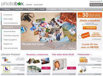 Revelado y álbumes de fotos online con PhotoBox