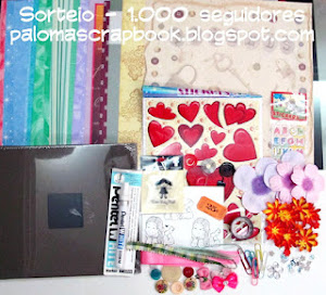 Sorteio no blog Paloma Scrapbook