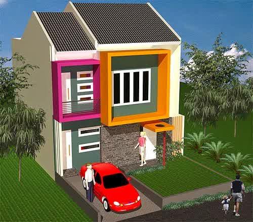 Contoh Desain Rumah Minimalis Type 45 2 Lantai