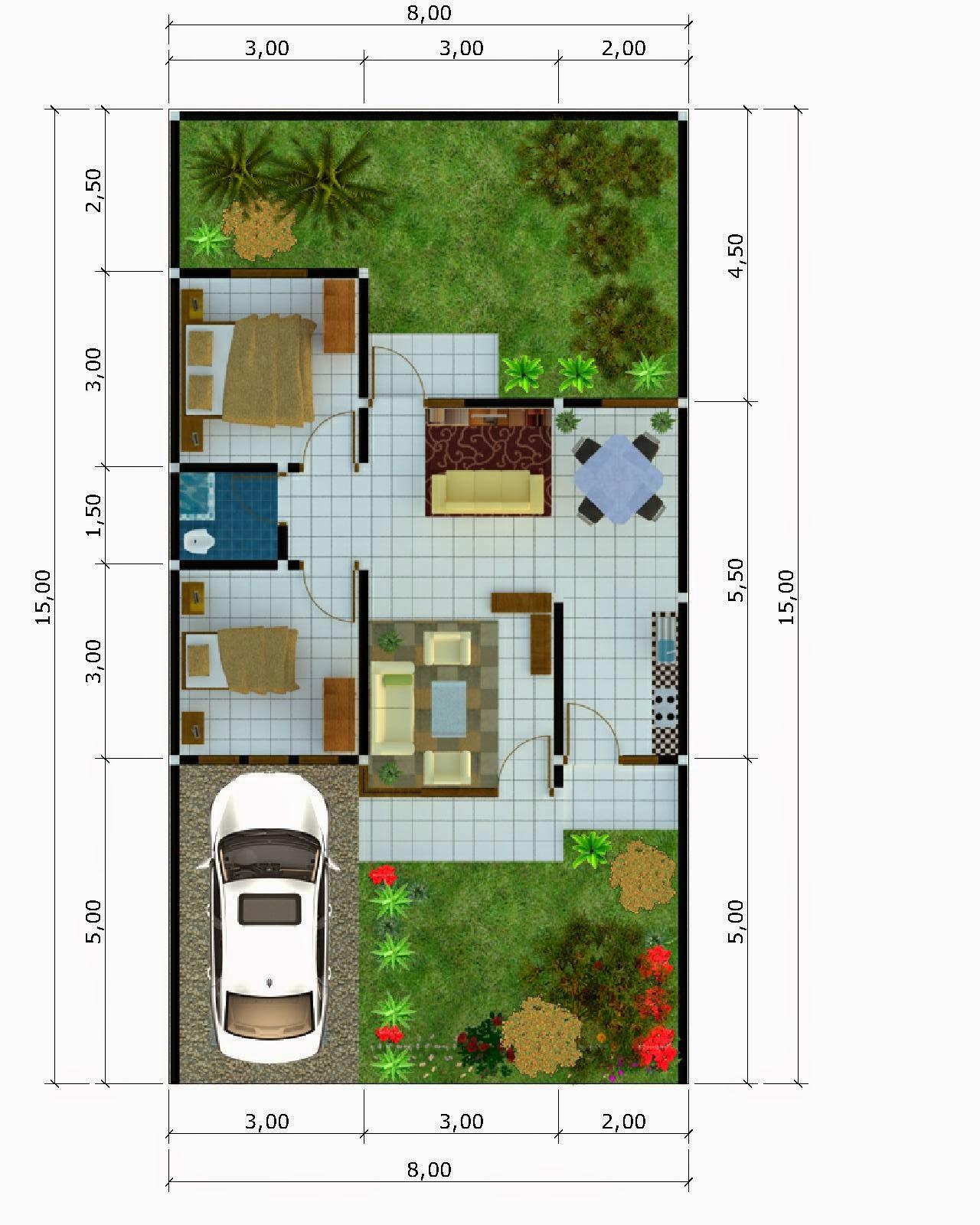 Gambar Desain Denah Rumah Minimalis Type  Terbaru