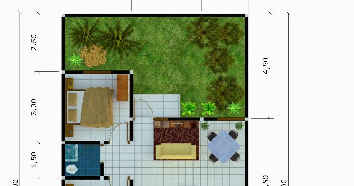 gambar desain denah rumah minimalis type 54 terbaru 2015