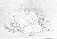 """risco pintura legumes, abobora,pera,tomate"""