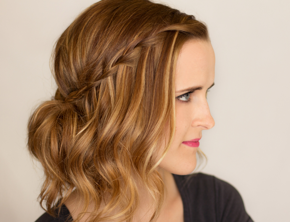 Waterfall Braid Updo